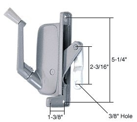 C.R. LAURENCE H3671 CRL Left Hand Awning Window Operator for Stanley and C & E (Window Awning Left Hand)