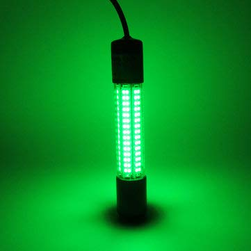 8W 12-24V 180LEDs Waterproof Underwater Lamp Fishing Night Fishing Bait Collectiong Fish - Fishing Fishing Lamp - (Green) - 1 x Bicycle Saddle Suspension Device
