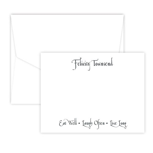 Casual Correspondence Note Card (white) - Embossed Graphics Stationery