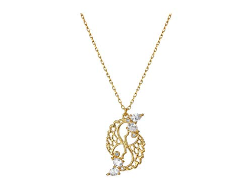 Charm Necklace Spade - Kate Spade New York Women's Celestial Charm Pisces Pendant Necklace Clear/Gold One Size