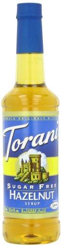 Hazelnut Sugar Free Sugar - Torani Sugar Free Syrup, Hazelnut, 25.4 Ounce (Pack of 4)