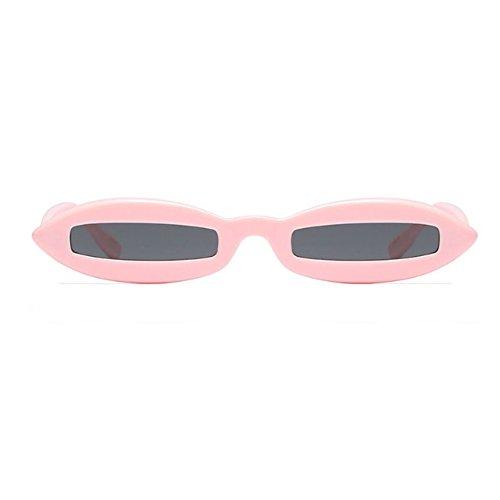 Diseñador Polvo Small Frame Oval Mujeres Oval Gris Eyewear Sunglasses Fashion moda de Inlefen 16SqXw6