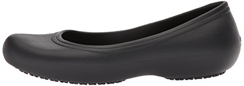 Crocs Women's Work Flat Food Service Shoe, Black, 8 M US by Crocs (Image #5)