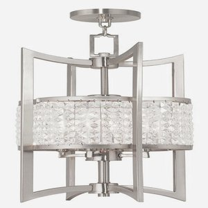 Livex Lighting 50566-91 Gramercy 4-Light Lantern, Brushed Nickel