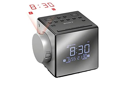 Sony Compact AM/FM Dual Radio Alarm Clock, (Best Sony Travel Projectors)