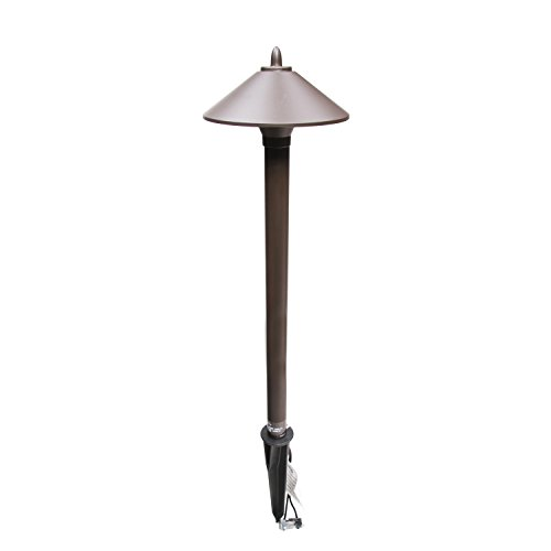 Malibu 8308-9103-01 10 Watt Pro Style Light Decorative Pathway Landscape Lights, Low Voltage Pro Path Yard Lights for Garden Landscape Path Pathway Lights Lawn Lamp, Aged Brass by Malibu