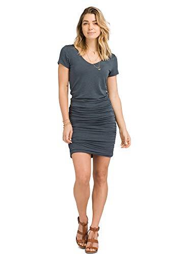 prAna - Womens Foundation Dress, Grey Blue Heather, Large (Best Foundation For Women Over 50)