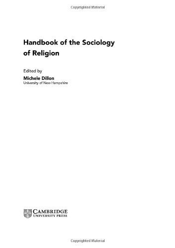 Download Handbook of the Sociology of Religion ( Hardcover ) by Dillon, Michele published by Cambridge University Press pdf