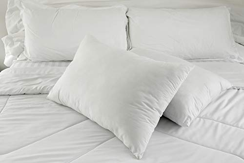 East Coast Bedding 100% White Goose Down Pillow 100% Cotton Fabric 550 Fill Power - Set of 2 (King)
