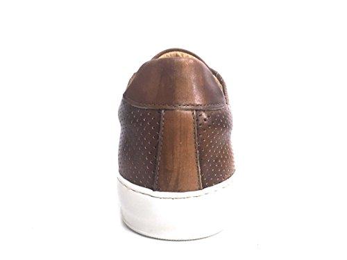Exton 514 Legno Scarpa Uomo Sneaker Made in Italy Pelle