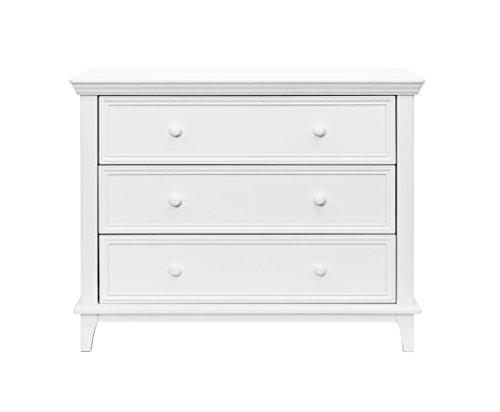 White 3 Drawer Dresser - 4