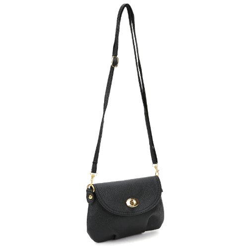 LADIES MINI SMALL HANDBAG CROSSBODY SHOULDER MESSENGER BAG, 5 COLORS Black