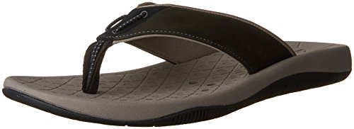 Clarks Mens Thongs - CLARKS Men's Bosun Coast Thong Sandal,Navy Cow Nubuck/Cow Suede,US 11 M