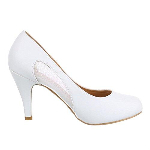 Ital-Design - Zapatos de Tacón Mujer Blanco - blanco