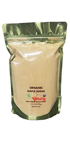 Frost Ridge Maple Farm Organic Maple Sugar Grade A One Pound 16 oz