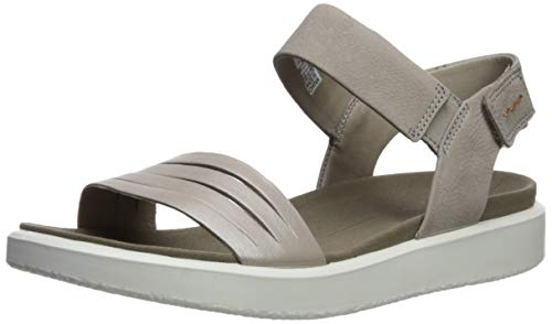 ECCO Women's Women's Flowt Strap Sandal, Moon Rock Silver/Warm Grey/Metallic, 35 M EU (4-4.5 US)