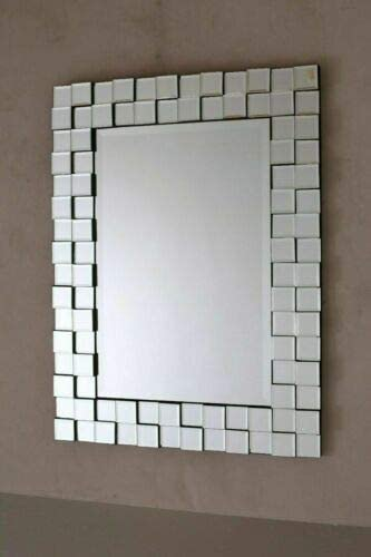 Nidda Designer Modern Venetian Wall Mirrors Square Large Sizes Amazon Co Uk Kitchen Home