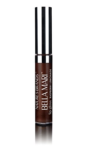 Bella Mari Natural Flavored Lip Gloss, Raspberry Lemonade; - Lip Flavored Gloss Cherry