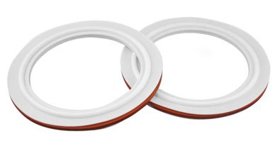Chemglass CG-147-G-02 Series CG-147-G Envelope Style Gasket, Silicone Core, 80 mm Diameter, PTFE by Chemglass