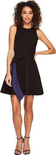Adelyn Rae Women's Faye Fit & Flare Dress Black Small by Adelyn Rae