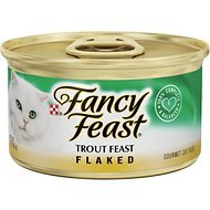 Fancy Feast Flaked Trout Feast Cat Food, 3 oz, 12 Cans (Trout Flaked Fancy Feast)