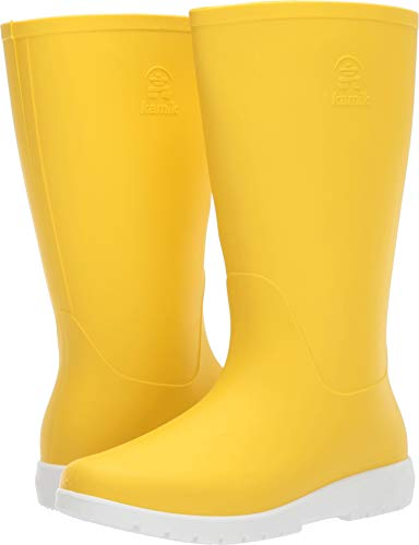(Kamik Women's Jessie Rain Boot, Yellow, 9 M US )