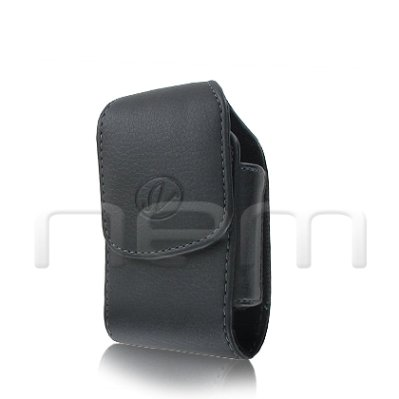 BLACK VERTICAL LEATHER COVER BELT CLIP SIDE CASE POUCH FOR Samsung MyShot 2 II SCH-R460 (R460 Protective Cases)