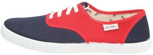 Inglesa Victoria rojo Zapatos De Tela Unisex Bicolor Multicolor Marino Raqa6f