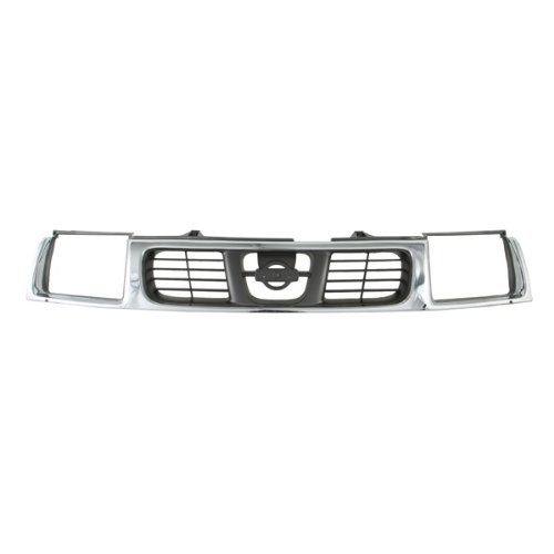 CarPartsDepot, 2D Pickup Truck Front Grill Grille Assembly Chrome/Gray, 400-36123 NI1200183 623103S510 - Nissan Pickup Grille Assembly