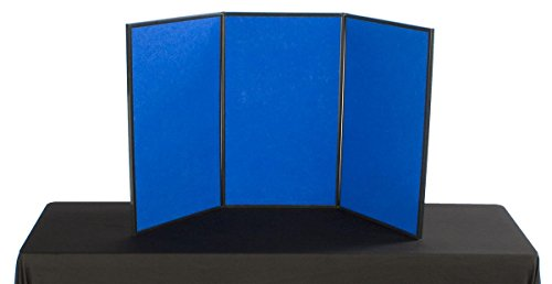 Displays2go 3-Panel Folding Panel Display, 54 x 30, with ...