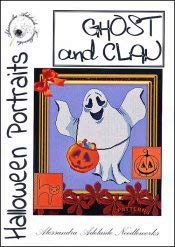 Ghost & Clan Cross Stitch Chart and Free Halloween Embellishment -