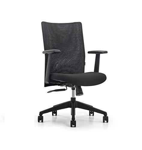 SOS Spacewood LiteOffice Stead Mesh Back Nylon Base Office Chair (Black)