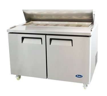 Atosa MSF8303 Sandwich/Salad Top Reach-In Refrigerator two-section