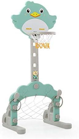 バスケットボールは子供の2イン1バスケットボールラックは、屋内1-12歳ホーム玩具バスケットボールフットボールを昇降可能ラック幼稚園ラック