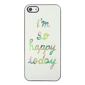 Mini - Happy Today Design Aluminium Hard Case for iPhone 5/5S