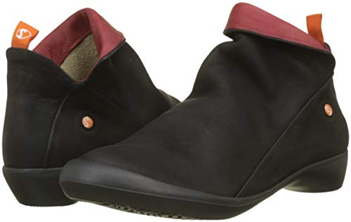 Boots Ankle Sole Black Women''s red Farah Softinos black Combi Nubuck 563 wqU1xXHI