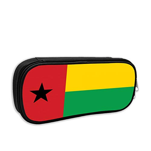 SARA NELL Pen Bag Pouch Guinea Bissau Flag Pencil Case Stationary Case Makeup Cosmetic Bag for Student Boys Girls
