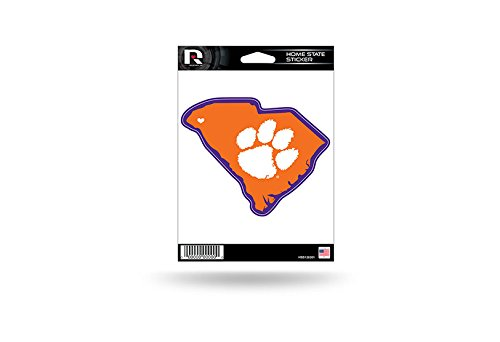 Rico Industries NCAA Clemson Tigers Home State Sticker
