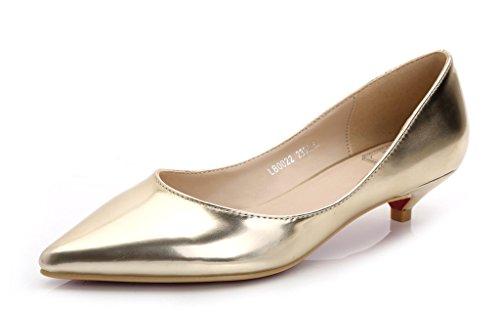 CAMSSOO , Damen Klassisch , - lg gold soft pu - Größe: 41 EU