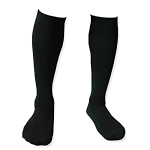 Long Tube Baseball Softball Black Socks Good Quality soccer referee socks April Fool's Day Gift (10Pairs-Black)