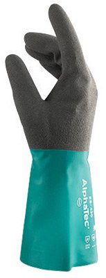 Gloves Cotton Ansell (Ansell Size 8 Sea Green AlphaTec® 12