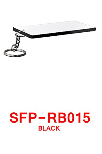 25 Credit Card Keychain BLANK SUBLIMATION HEAT TRANSFER POLYMER PVC 2 X 3 INCHES ()