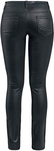 Negro Fashion Victim Jeans Metallic Tejanos qR1I7Tw