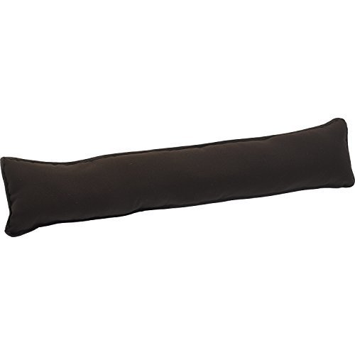 Downview Plain Fabric Draught Excluder Decorative Simple Door or Window Draft Guard (Chocolate Brown)