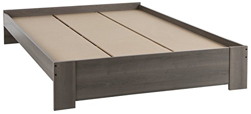 South Shore Gloria Platform Bed, Queen 60-Inch, Gray Maple