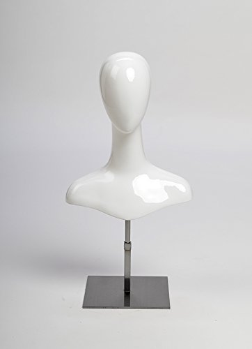 custom-fiberglass-head-and-shoulder-female-mannequin-form-gloss-white-finish-with-satin-nickel-finis