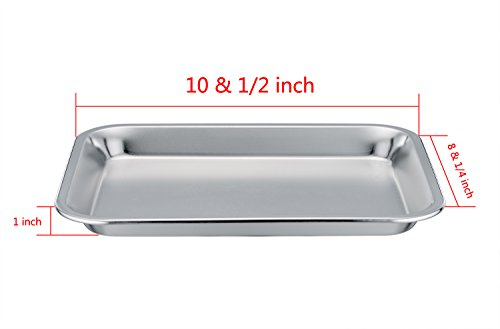 Lowest Price Teamfar Stainless Steel 8x10x1 Toaster Oven Tray Personal Size Pan Healthy Non