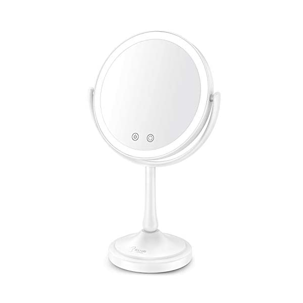 BESTOPE Lighted Makeup Mirror with Lights 7X Magnifying Mirror with 60Pcs LED Lights,3 Color Lighting Modes, Dimmable…