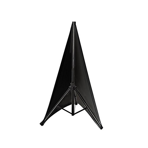 "(Pyle Universal Lighting Tripod Stand Scrim - Double Sided DJ Speaker / Light Stand Skirt Cover w/ Velcro Straps, Bag, Made from Stretchable Lycra Spandex, Fit Stands Up to 75"" x 43"" - PSCRIM2B (Black))"