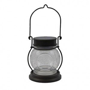 Malibu Lighting 8522-4511-01 LED Solar/Battery Metal Porthole Table Top Lantern